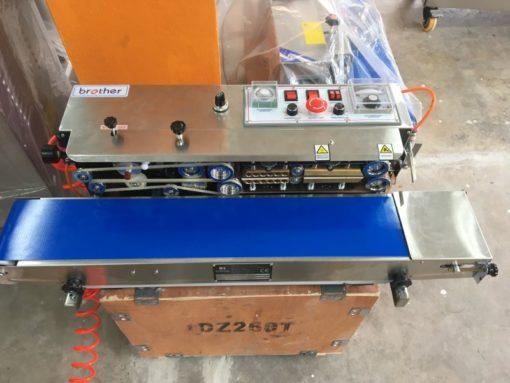 เครื่องซีลสายพานมีเครื่องพิมพ์ในตัวเติมไนโตรเจน FRD-1000W+nitrogen